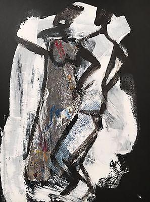 abstraktes Acrylbild 70x50 LW Sonja Zeltner-Müller Frauen Tanz