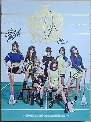 AOA HEART ATTACK 3RD MINI ALBUM K-POP REAL SIGNED AUTOGRAPHED CD