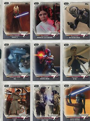 Women Of Star Wars Complete Weapon Of Choice Chase Card Set WC1-24