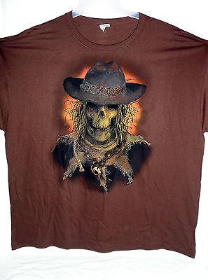 Scarecrow Face Halloween (NEW HALLOWEEN T-SHIRT SCARECROW FACE XXXL BROWN)
