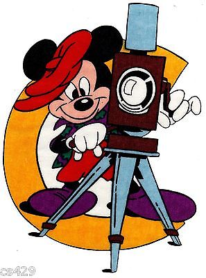"""8.5"""" Disney mickey mouse c camera fabric applique iron on character for sale  Shipping to India"""