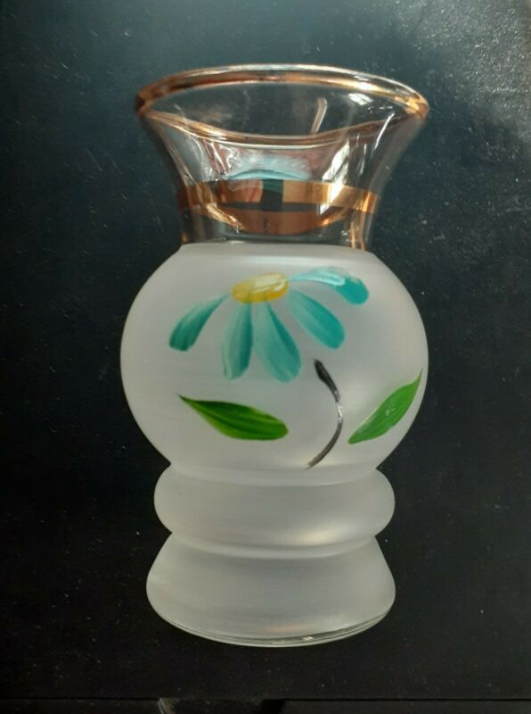 Vintage Small Handpainted Bartlett Collins Bud Vases-Set of 2