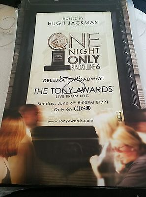 The Tony Awards Host Hugh Jackman Signed Broadway Poster Rare One Night Only