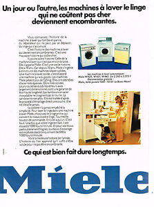 publicite advertising 094 1974 miele lave linge machine. Black Bedroom Furniture Sets. Home Design Ideas