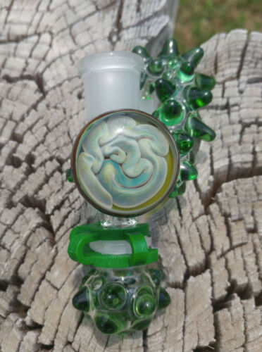 Green Brain 18mm Female - Male Drop Down Lab Glass Reclaim Removable Jar USA