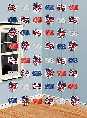 ge Großbritannien Party Hängende Faden Dekorationen (Union Jack Dekorationen)