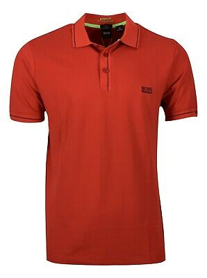 Hugo Boss Men's Paule Moisture Manager Polo Shirt - Slim Fit - Red Hugo Boss Moisturizing Moisturizer