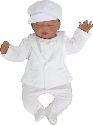 Baby Anzug (Baby Baumwolle Jungen Einteiler Strampler gr 56 62 68 74 Taufe Festlich Anzug)