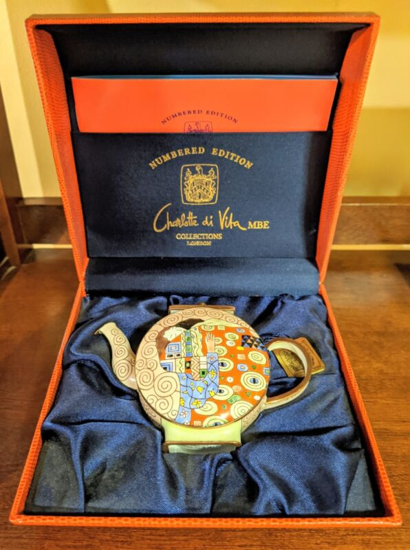 Hand Painted Enamel Antique Teapot