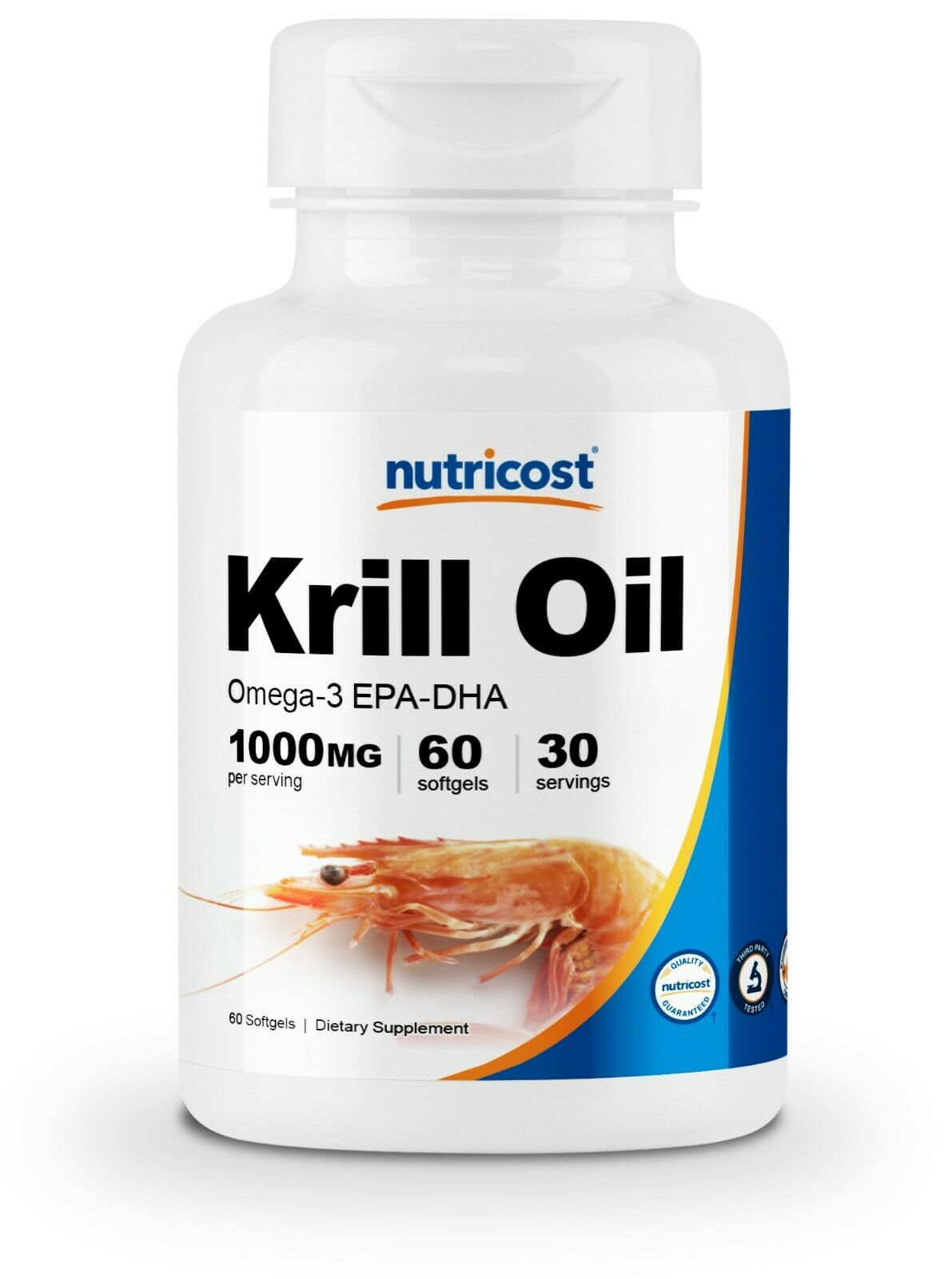 Nutricost Krill Oil 1000mg 60 Softgels