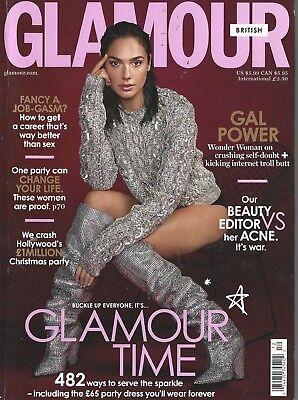 British Glamour December 2017 Gal Gadot Wonder Woman Acne Job-Gasm Hollywood NM