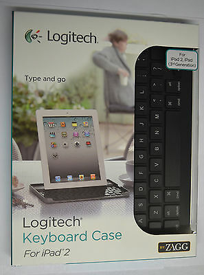 Logitech By Zagg Bluetooth Keyboard W/ Stand For Apple Ip...