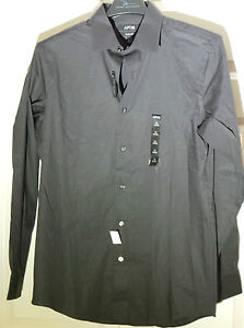 Apt 9 slim fit stretch pepper black gray dress shirt men 39 s for Apartment 9 dress shirts