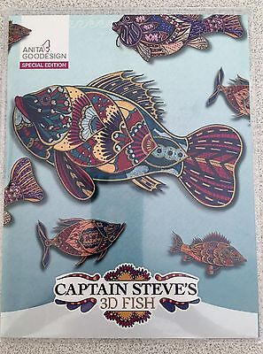Anita Goodesign Embroidery Machine Design CAPTAIN STEVES 3D FISH-SPECIAL EDITION
