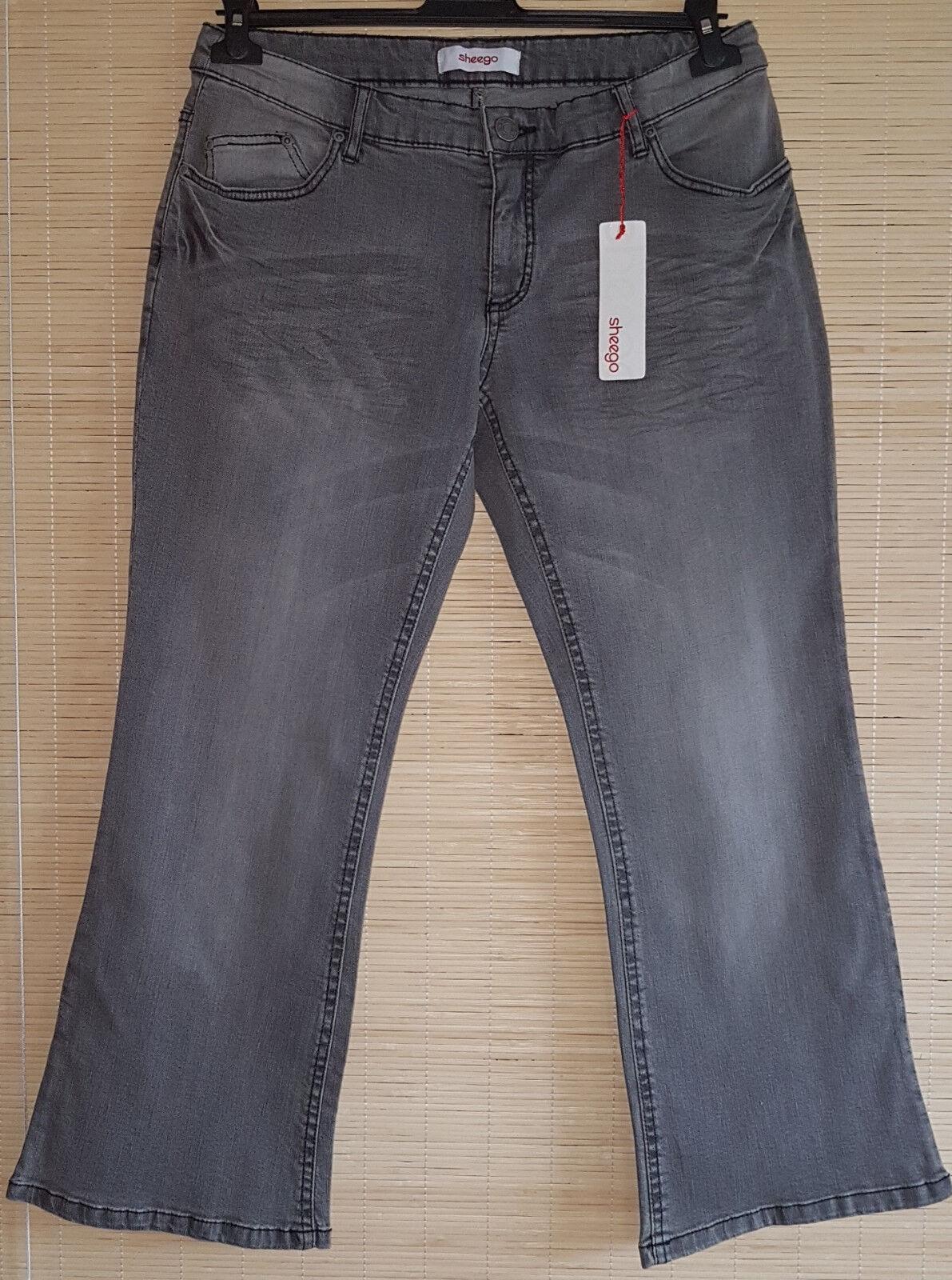 f60fc43ef9 JEANS Damen BOOTCUT SHEEGO Grau 42 44 46 48 50 52 Kurzgrößen & Langgrößen, Jeans  hosen ...