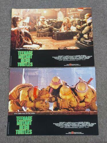Steve Barron Teenage Mutant Ninja Turtles Lee RARE HK 1990 Set of 6 Lobby Cards