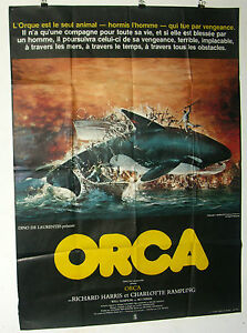 affiche cinema orca 1977 120x160 ebay. Black Bedroom Furniture Sets. Home Design Ideas