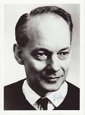 Manfred Eigen Originalautogramm auf Großfoto Nobel Chemie 1967  autograph