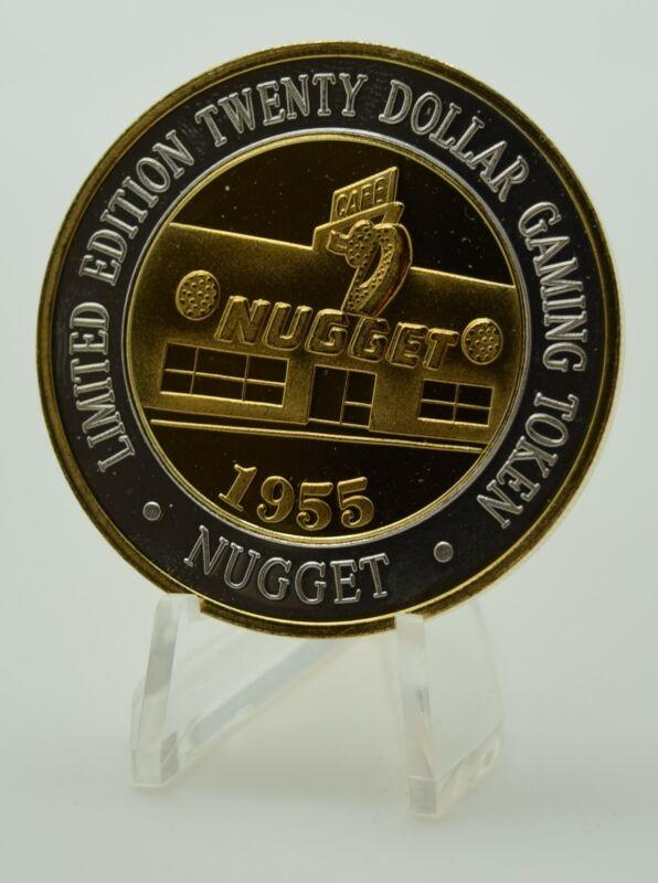 Silver Strike  .999 Fine Silver 24k Gold Nugget Casino $20 Strike Sparks Nevada