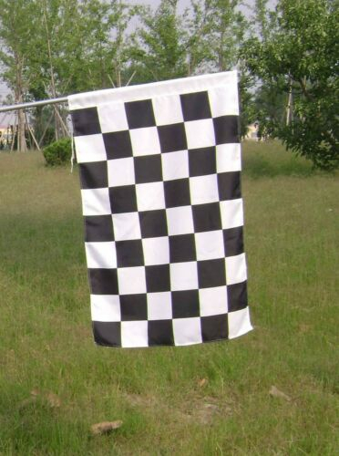 Black & White Check Flag Banner Checkered Racing Flag Full Size 90x144cm (5X3ft)