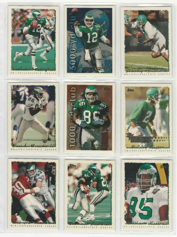 Philadelphia Eagles 1995 Topps Team Set (16) w/RC Randall Cunningham Watters