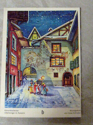 VINTAGE ADVENT CHRISTMAS CALENDAR **CARD GERMANY USED BUT CAN EASILY BE RE-USED  Advent Calendar Card