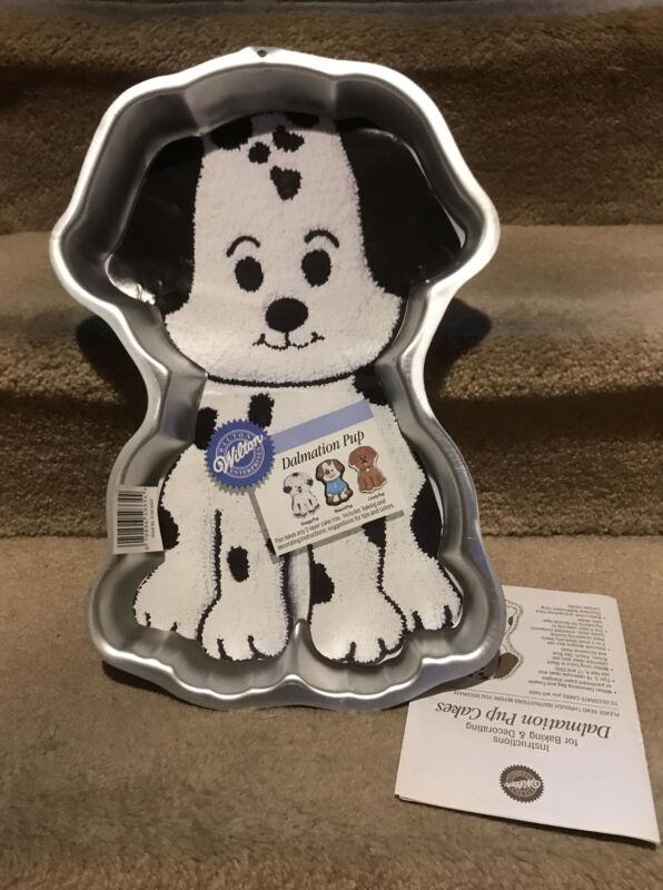 Wilton Dalmation Puppy Dog Cake Pan Mold 2105-9334 Vintage 1993 & Instructions