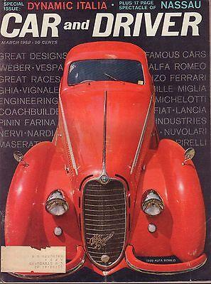 Car And Driver Magazine March 1962 1939 Alfa Romeo 080817nonjhe