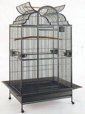 "NEW 63"" Large Elegant Open Dome Play Top Parrot Macaw Bird Metal Cage 149"