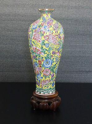 China Vase Porzellan Eierschale chinese eggshell Qianlong-Marke