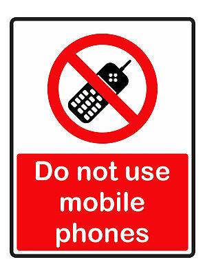 Do Not Verwendung Handys Selbstklebende Sticker Sicherheit Zeichen Business ()