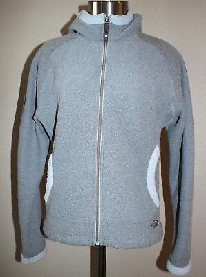The North Face Gray Powder Blue Hooded TKA 200 Fleece Full Zip Jacket Sz - 200 Fleece Hooded Jacket