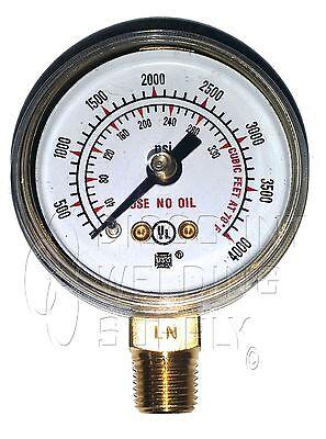 1-12 1.5 Usg Ametek Welding Gauge 4000 Lbs. Oxygen Regulator Us-040