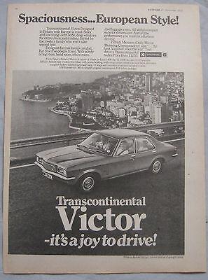 1972 Vauxhall Victor Original advert