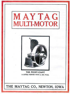 Upright Maytag Washer Gas Engine Book Advertising Manual Hit Miss Motor 92 82 72