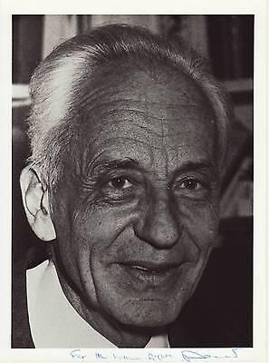 Jean Dausset Originalautogramm auf Großfoto Nobel Medizin 1980 autograph