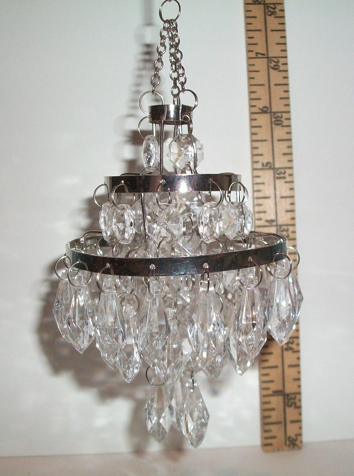 Miniature 16 scale fashion doll dollhouse hanging bead chandelier miniature 1 6 scale fashion doll dollhouse hanging arubaitofo Images