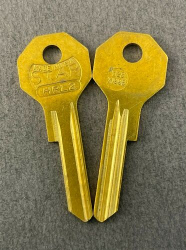 Lots of (2) HPL2 Y128 X1199B Type Key Blanks for Vintage Chrysler