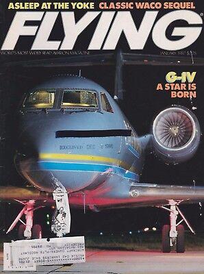 Used, Flying Magazine (Jan 1987) (Gulfstream G-IV, Waco YMF-5, V-Tail Bonanza)  for sale  Shipping to Canada