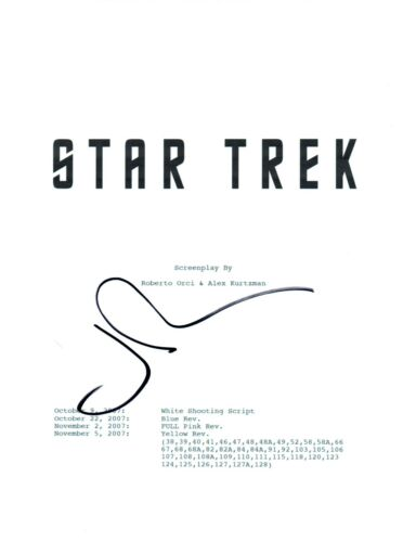 John Cho Signed Autographed STAR TREK Full Movie Script COA