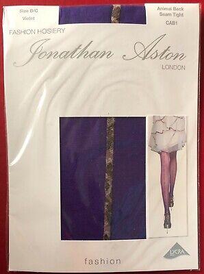Jonathan Aston Animal Backseam Tights Pantyhose Violet size B-C