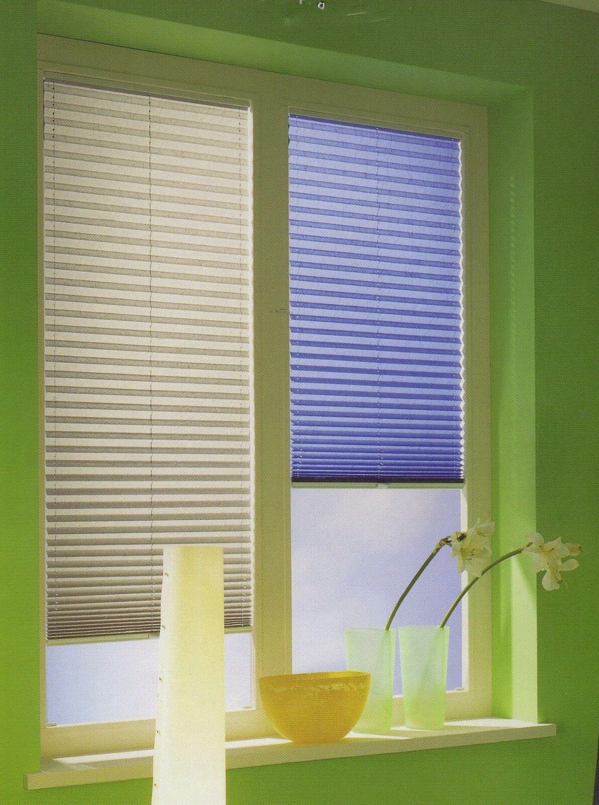 Plissee Faltrollo Stoffe gegen Sonne Hitze nach Maß Maßanfertigung viele Farben