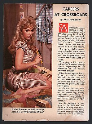 1961 TV ARTICLE~SEXY STELLA STEVENS~HILL COUNRTY HEROINE in GRADUATION DRESS