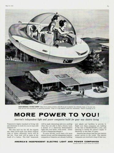 1959 ORIGINAL VINTAGE AMERICAN INDEPENDENT ELECTRIC LIGHT & POWER MAGAZINE AD