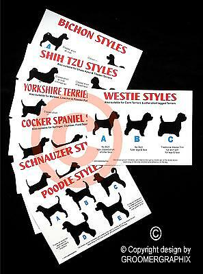 DOG GROOMING STYLE CHARTS *BEST SELLER* stationery by
