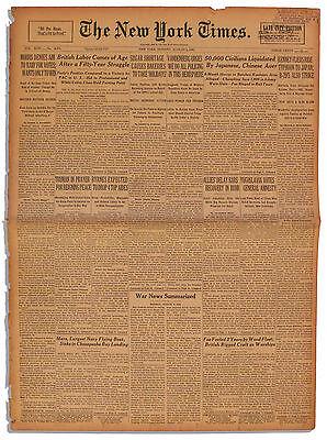 6 August 1945 Hiroshima Day New York Times Newspaper