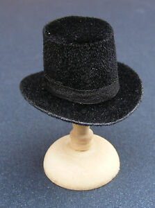 1:12 Scale Black Top Hat Dolls House Miniature Clothing Accessory