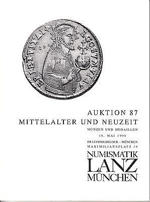 LANZ AUKTION  87 Katalog 1998 Neuzeit Mittelalter Habsburg Florene Gulden ~