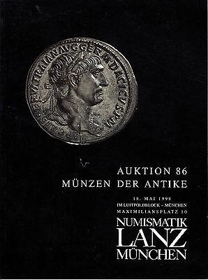 LANZ AUKTION  86 Katalog 1998  Kelten Griechen Römer Byzanz Völkerwanderung ~