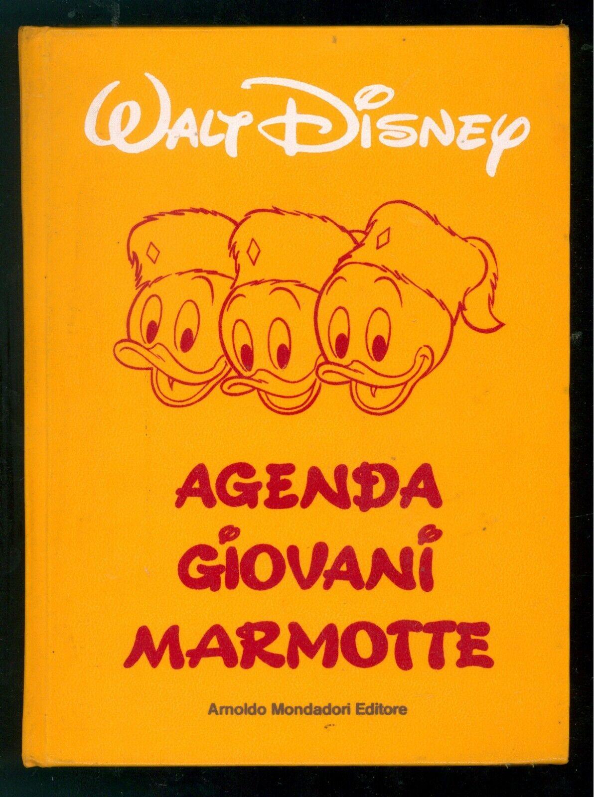 WALT DISNEY AGENDA GIOVANI MARMOTTE MONDADORI 1978 DIARIO